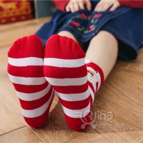 جوراب اسپرت دخترانه بلند