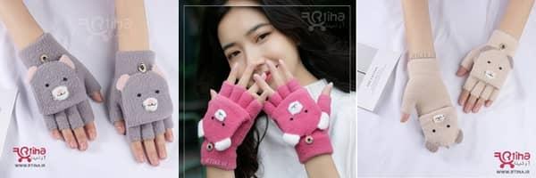 خرید دستکش نیم انگشت زنانه