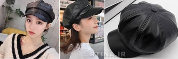 کلاه چرم زمستانه زنانه