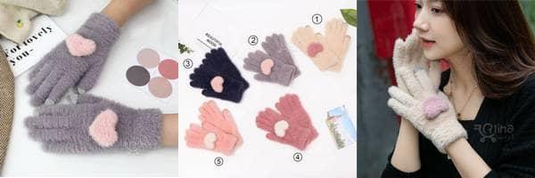خرید دستکش کار با موبایل زنانه فانتزی