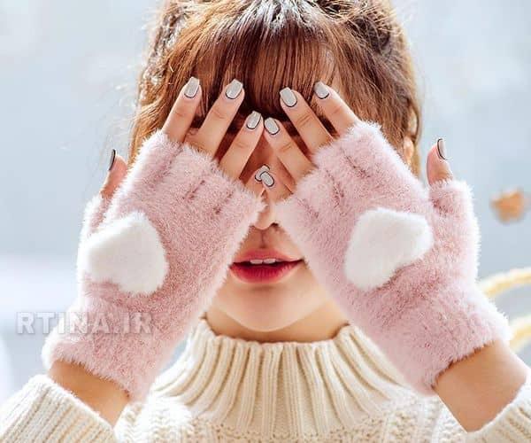 دستکش بدون انگشت بافتنی خرید