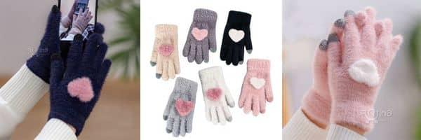 فروش دستکش بافتنی دخترانه فانتزی