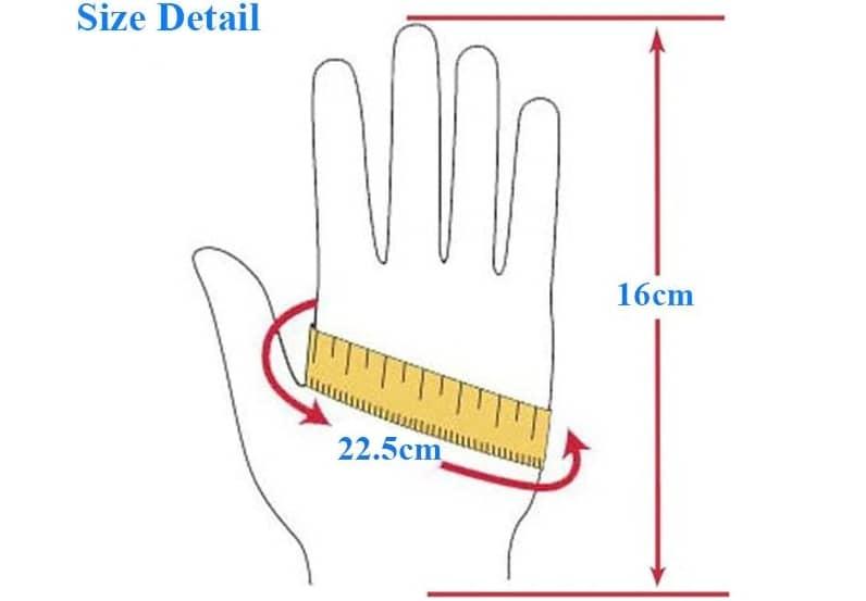 سایز دستکش زنونه