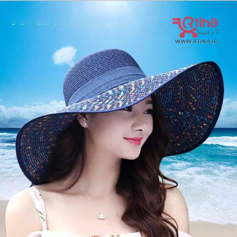 کلاه حصیری ساحلی