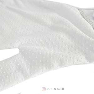 دستکش سفید پاپیون دار شیک