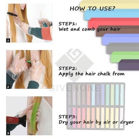 طرز استفاده از گچ مو