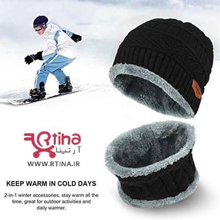 کلاه ویزه اسکی روی برف
