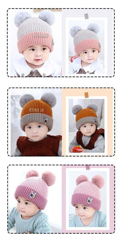 کلاه بافتنی پاییزی بچه گانه