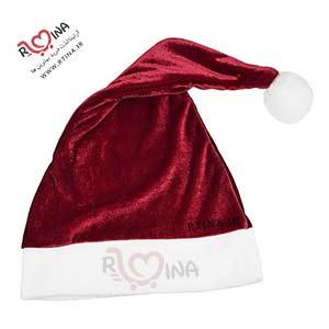 کلاه کریسمس قرمز کلاه بابانوئل کلاه قرمز پوم دار مخمل