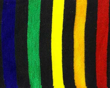 جوراب اسپرت دخترانه و زنان طرح دار راه راه رنگی