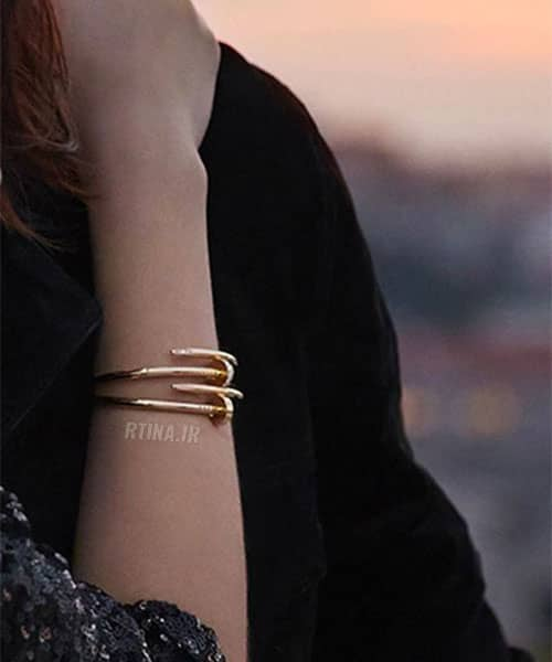 دستبند زنانه اسپرت مدل میخی