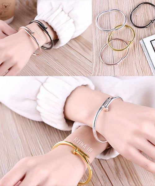 دستبند پسرانه استیل