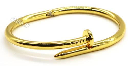 دستبند دخترانه شیک النگویی طلایی