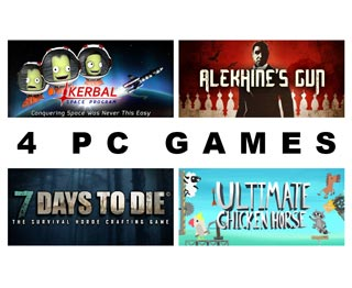 دانلود بازی های Ultimate Chicken Horse ، Kerbal Space Program ، 7 Days to Die و Alekhine's Gun