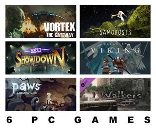 دانلود بازی های Samorost 3 ، FORCED SHOWDOWN ، Paws: A Shelter 2 Game ، Vortex: The Gateway ، Waste Walkers Deliverance ،  Trial by Viking