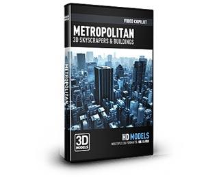 دانلود مجموعه Video Copilot Element 3D Metropolitan Pack مدل سه بعدی آسمان خراش ها و ساختمانها