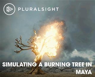 دانلود فیلم آموزش Simulating a Burning Tree in Maya