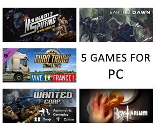 دانلود بازی های Earth's Dawn ، Beastiarium ، Her Majesty's Spiffing ، Wanted Corp و  Euro Truck Simulator 2 - Vive la France