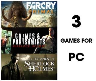 دانلود بازی های Far Cry Primal ، The Testament of Sherlock Holmes و Sherlock Holmes Crimes and Punishments