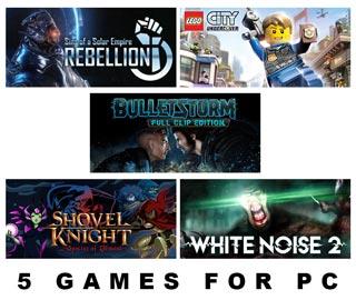 دانلود بازی های Bulletstorm Full Clip Edition ، Shovel Knight Specter of Torment ، The Wild Eight ، White Noise 2 ،  Sins of a Solar Empire Rebellion Remastered و LEGO City Undercover برای کامپیوتر