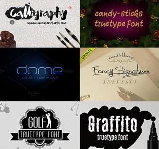 دانلود بیش از 30 فونت لاتین متنوع - CM 30 Fonts Bundle