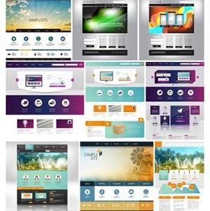 دانلود تصاویر وکتور قالب وبسایت Stock Vectors Website Template