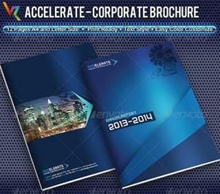 دانلود تصاویر لایهباز قالب InDesign بروشورهای تجاری - Graphicriver Accelerate Corporate Brochure