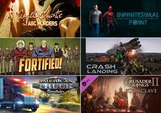 دانلود بازی های American Truck Simulator ، Crusader Kings II Conclave ، Infinitesimal Point ، Fortified  ، Agatha Christie The ABC Murders و Crash Landing