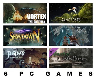 دانلود بازی های Samorost 3 ، FORCED SHOWDOWN ، Paws: A Shelter 2 Game ، Vortex: The Gateway ، Waste Walkers Deliverance ،  Trial by Viking