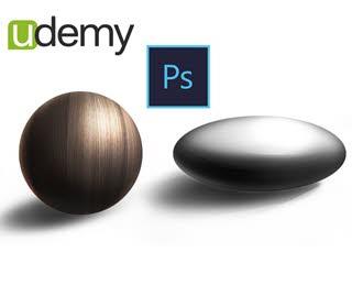 دانلود فیلم آموزش Photoshop for Designers: Rendering & Texturing Round Objects