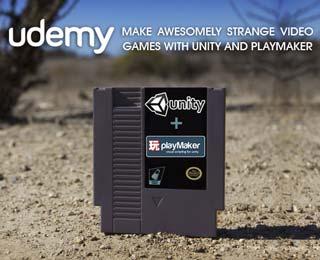 دانلود فیلم آموزش Make Awesomely Strange Video Games with Unity and Playmaker