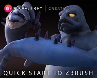 دانلود فیلم آموزشی Quick Start To ZBrush