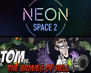 دانلود بازی های Tom vs. The Armies of Hell و Neon Space 2