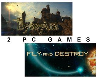 دانلود بازی های Fly and Destroy و The Eyes of Ara
