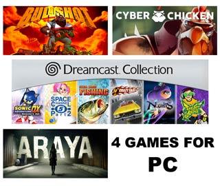 دانلود بازی های ARAYA ، Dreamcast Collection Remastered ، Cyber Chicken و Bullshot