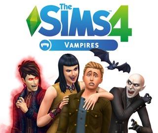 کاور و لیبل دیسک بازی The Sims 4 Vampires