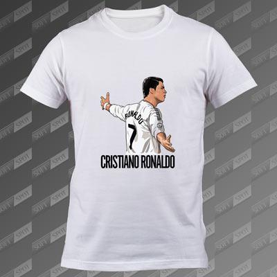 تی شرت مردانه سفید Cristiano Ronaldoo TS-00000003