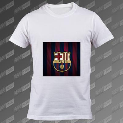 تی شرت مردانه سفید FC Barcelona TS-00000004