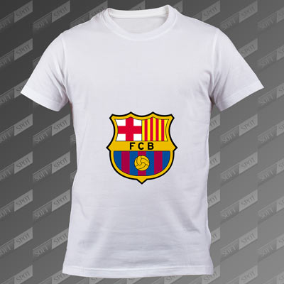 تی شرت مردانه سفید FC Barcelona TS-00000005