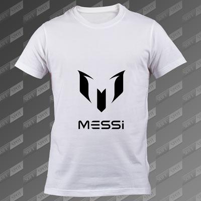 تی شرت مردانه سفید Lionel Messi TS-00000012