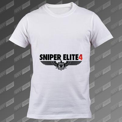 تیشرت سفید Sniper Elite 4 TS-00000022
