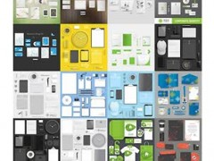دانلود تصاویر وکتور مجموعه اداری Corporate Template Design