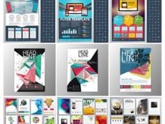 دانلود تصاویر وکتور قالبآماده بروشورهای تجاری Stock Vectors Business Flyer Template
