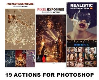 دانلود مجموعه اکشنهای فتوشاپ Photoshop Actions Part 10