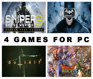 دانلود بازی های Sniper Ghost Warrior 3 ، Batman Arkham VR ، Dragon Quest Heroes II و Outlast 2 برای کامپیوتر