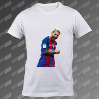 تی شرت مردانه سفید Lionel Messi TS-00000010