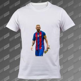 تی شرت مردانه سفید Lionel Messi TS-00000011