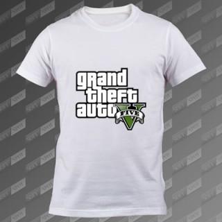 تیشرت سفید Grand Theft Auto V TS-00000031