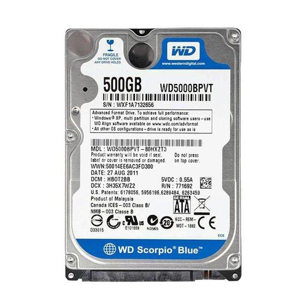 هارددیسک وسترن دیجیتال لپ تاپ مدل Blue WD5000BPVT 500GB