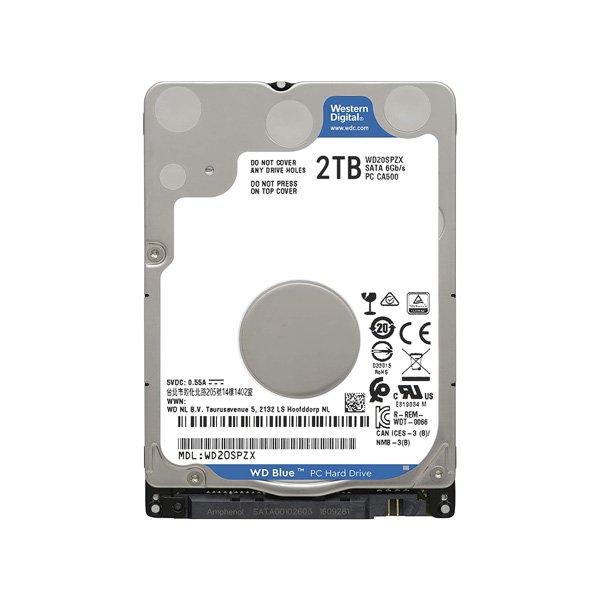 هارد لپ تاپ 2 ترابایت WD مدل BLUE WD20SPZX